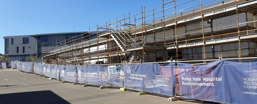 Mona Vale Hospital Support Services Building construction
